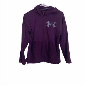 Under Armour Purple Hooded Zip Up Sweatshirt